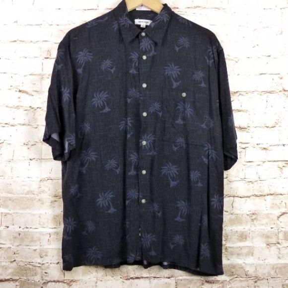 6695d875 Pierre Cardin Shirts | Mens Rayon Black Hawaiian Shirt | Poshmark